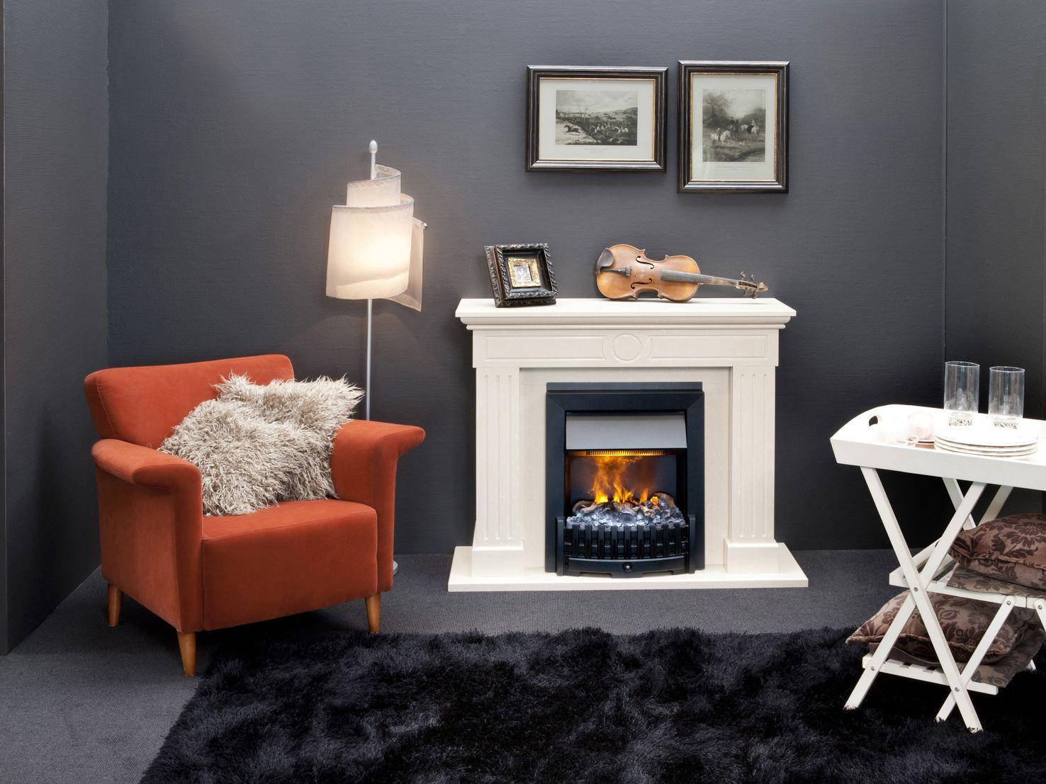 Danville black caminetti elettrici ad acqua maisonfire for Faber camini elettrici